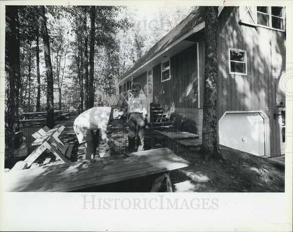 1982 Press Photo Robert & Georgia Drake Filed Suit Against Native Americans - Historic Images
