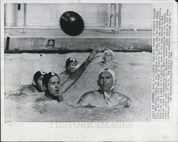 1960 Press Photo Bill Kooitra Olympics - Historic Images