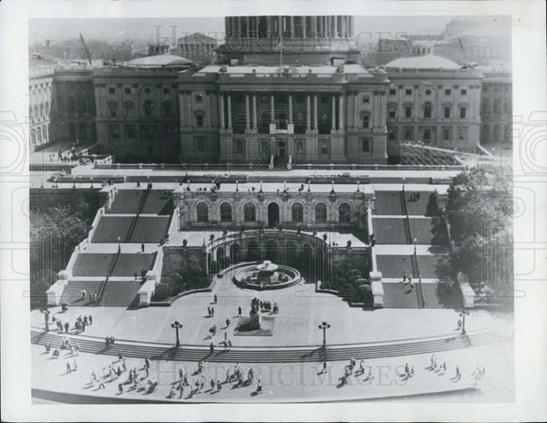 1974 Press Photo Washington DC/United States Capitol Building Terrace - Historic Images
