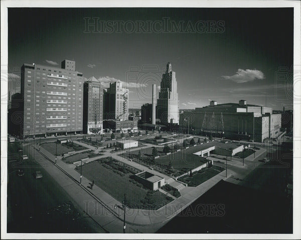 1963 Press Photo Aireal View Of Kansas City, Missouri - Historic Images