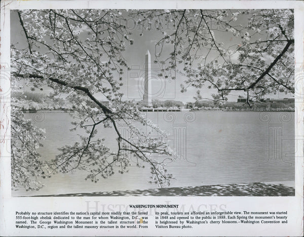 1982 Press Photo George Washington Monument in D.C. - Historic Images