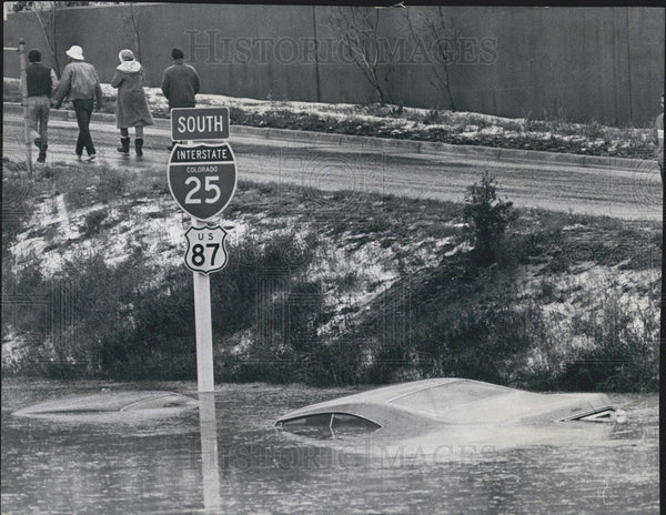 1969 Press Photo Interstate 25 Flooded - Historic Images