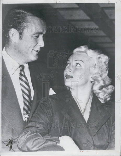 1951 Press Photo Lana Turner and Robert Topping - Historic Images