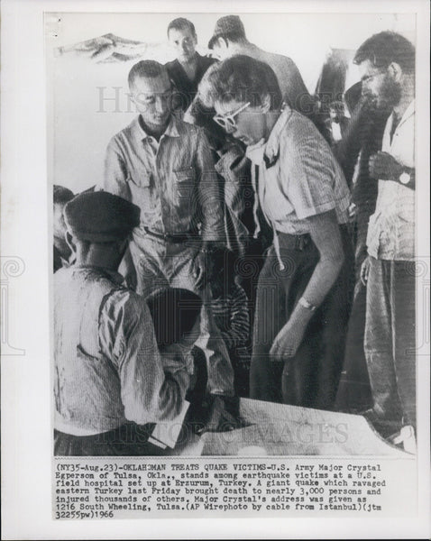 1966 Press Photo U.S. Army Major Crystal Egperson Among Erzurum, Turkey Victims - Historic Images