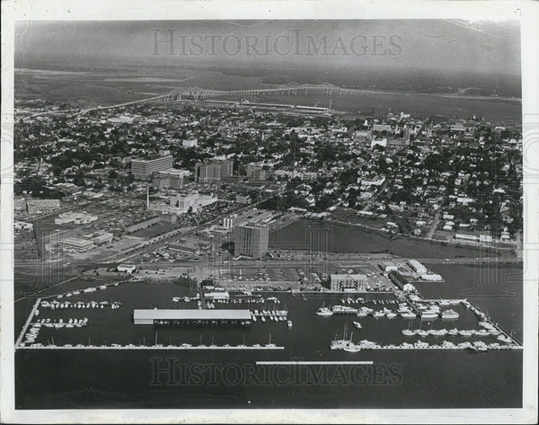 1974 Press Photo Charleston Aerial View South Carolina - Historic Images