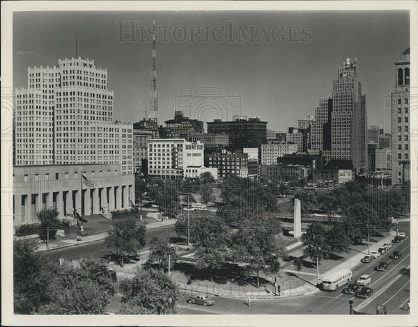1963 Press Photo Skyline St. Louis Missouri - Historic Images