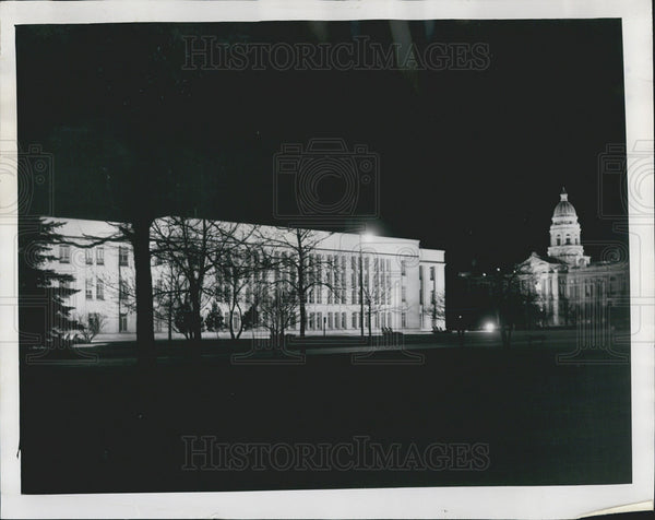 1954 Press Photo Wyoming State Supreme Court Building - Historic Images