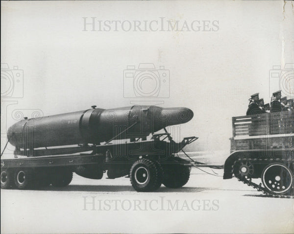 1968 Press Photo A Submarine Rocket, Part Of The Weapons Race With Russia - Historic Images