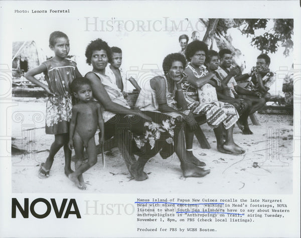 Press Photo South Sea Islanders In Anthropology On Trail Special New Guinea - Historic Images