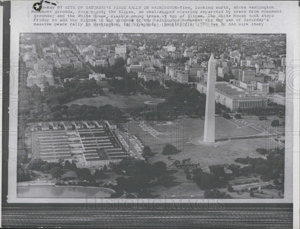 1970 Press Photo Aerial view of Washington, D.C. - Historic Images