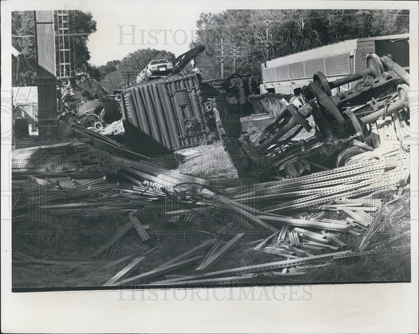 1981 Press Photo Train wreck caused by teenager - Historic Images