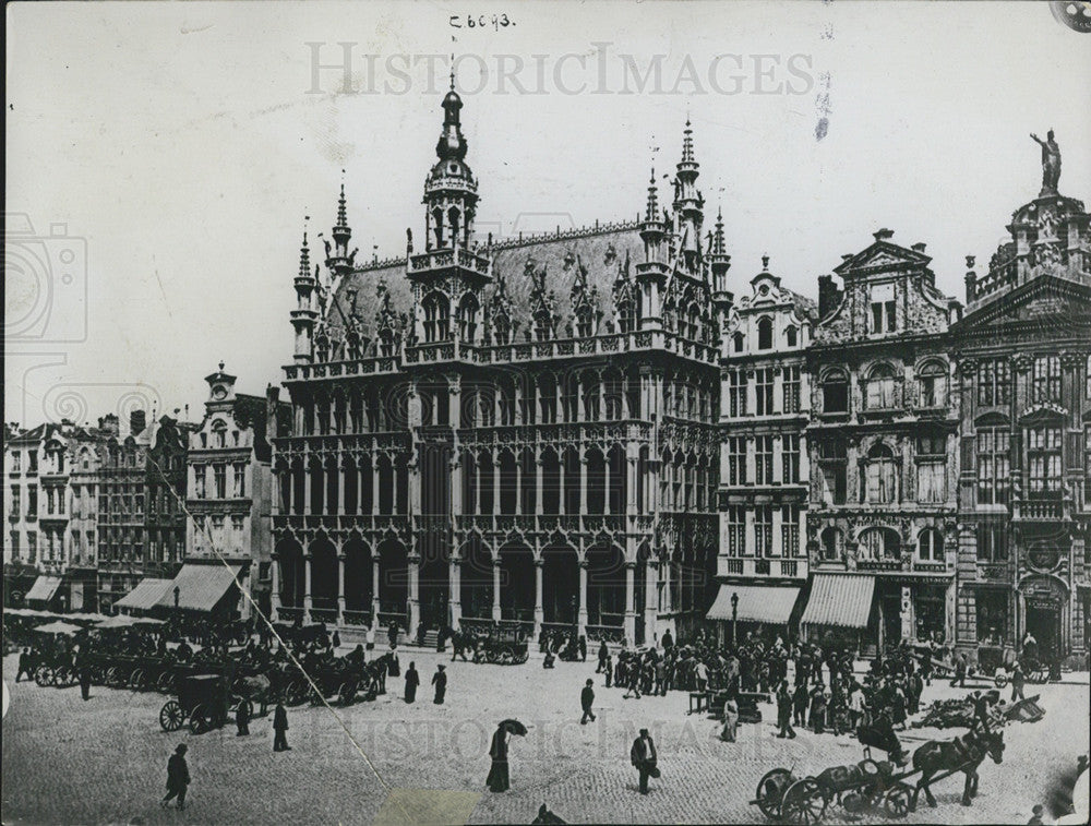 1914 Press Photo Palace of the Belgium King in Brussels - Historic Images