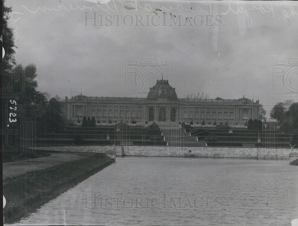 1914 Press Photo Belgium Royal Palace in Brussels - Historic Images