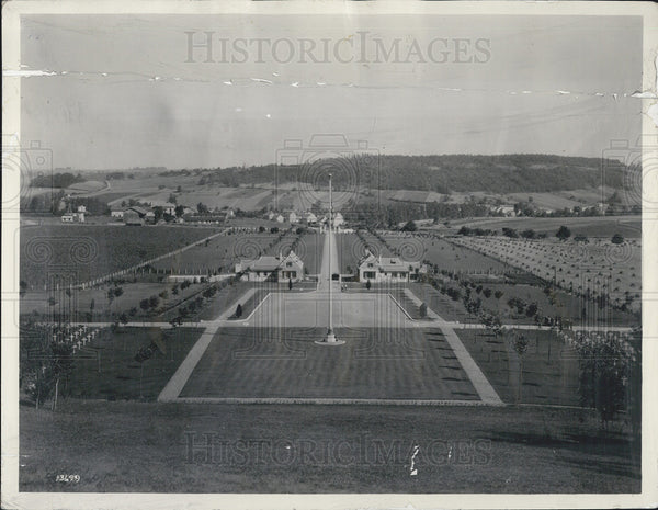 1927 Press Photo American MIlitary Cemetery in France Near Paris - Historic Images