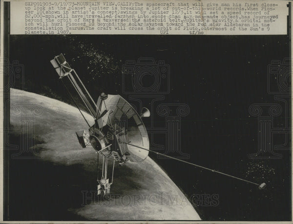 1931 Press Photo Artists concept of satellite in space - Historic Images