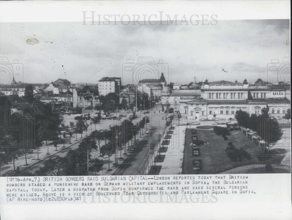 1941 Press Photo British bombing in Bulgarian Capital - Historic Images