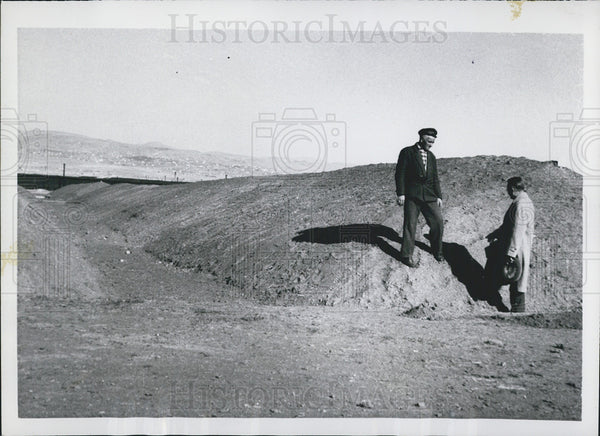1953 Press Photo Grain mounds in Ankara, Turkey - Historic Images