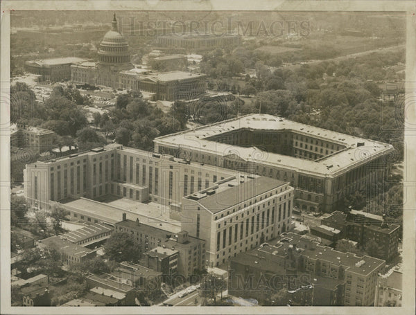 1959 Press Photo New and old Senate Buildings in Washington, D.C. - Historic Images