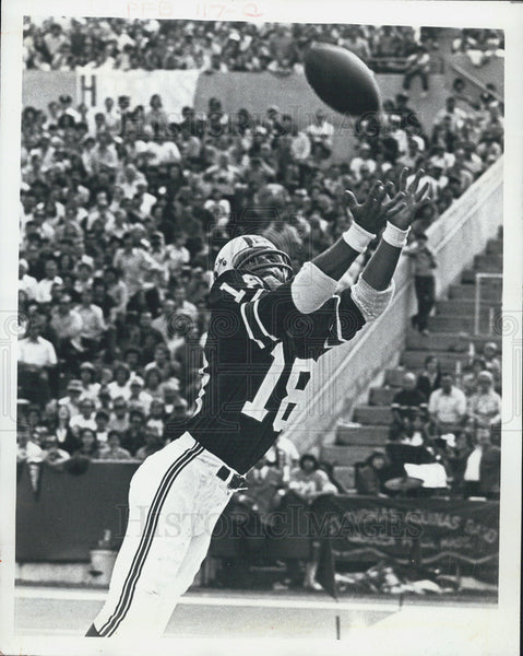 Press Photo Randy Vataha, New England Patriots. - Historic Images