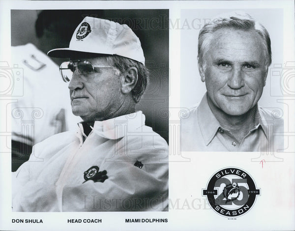 Press Photo Don Shula Head Coach Miami Dolphins - Historic Images