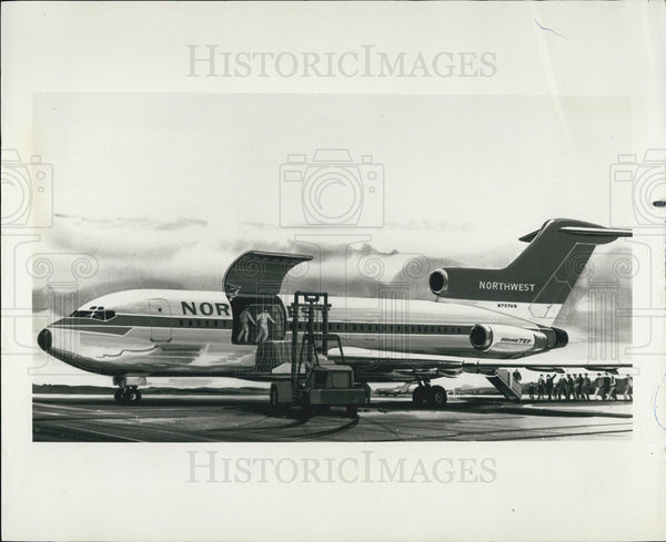 1964 Press Photo Boeing 727 Aviation Airplanes - Historic Images