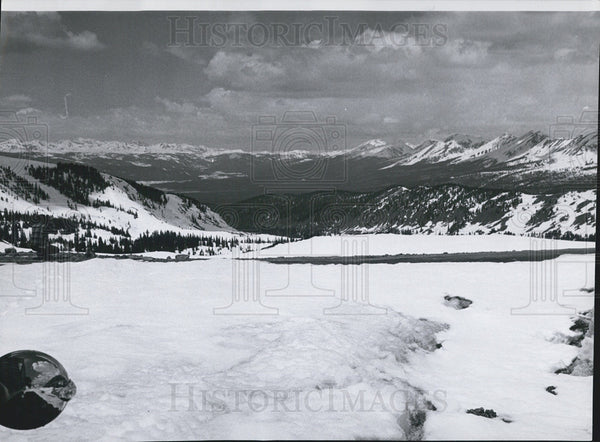 1962 Press Photo Cottonwood Pass Colorado - Historic Images