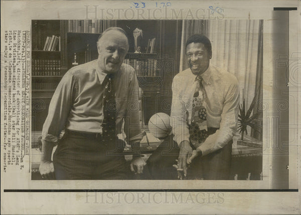 1964 Press Photo Bill Russell Dan K Hutchins AT T - Historic Images
