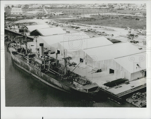 1967 Press Photo Ship Building - Historic Images