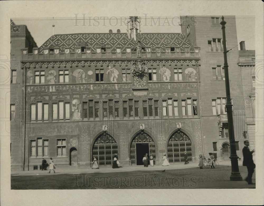 1914 Press Photo Town Hall Baths Switzerland - Historic Images