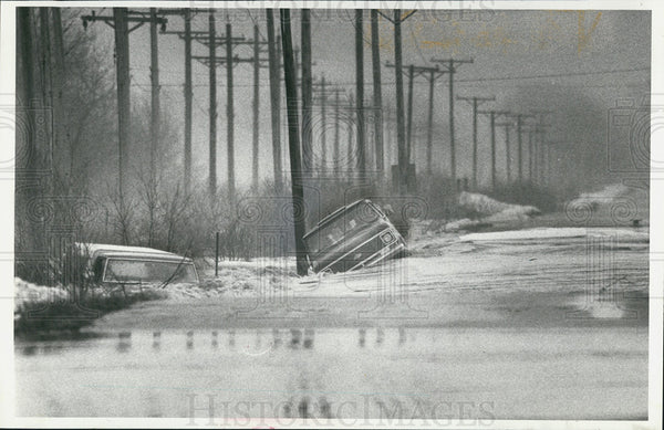 1979 Press Photo Blodgett Road, Flooding - Historic Images