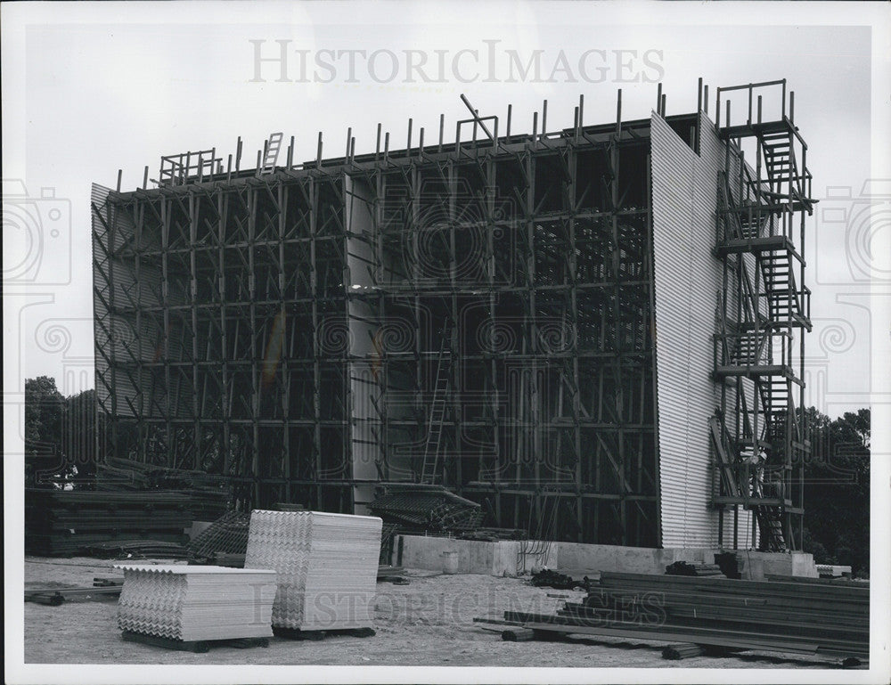 1960 Press Photo Cooling Tower, Argonne National Laboratory Construction - Historic Images