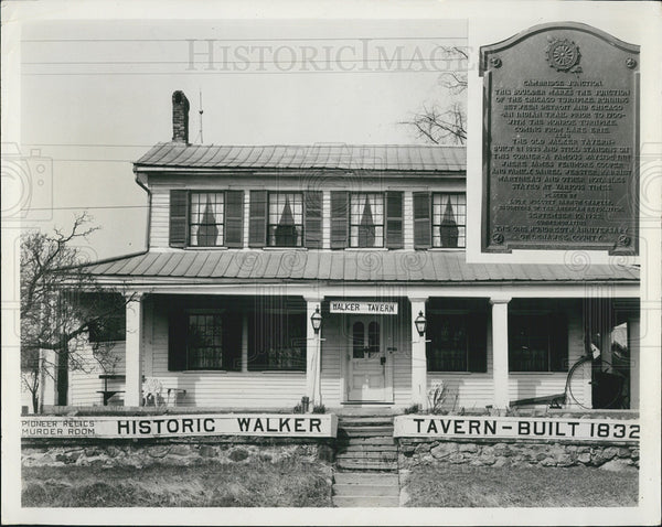 Press Photo Historic Walker Tavern Michigan - Historic Images
