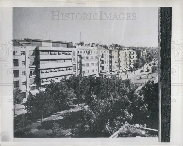 1958 Press Photo Modern apartment buildings in Turkey - Historic Images