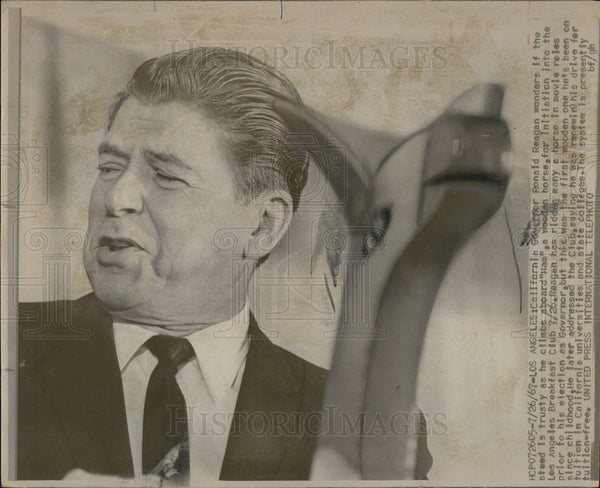 1967 Press Photo Ronald Reagan California Governor - Historic Images