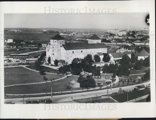 1940 Press Photo Turku Castle Finland Attack By Russian Bombers - Historic Images