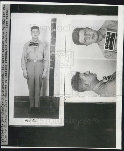 Press Photo Pvt Charles RLF McIntosh,arrested for check fraud - Historic Images