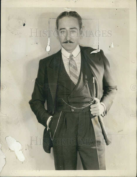1930 Press Photo Adolphe Menjon, Movie Star - Historic Images