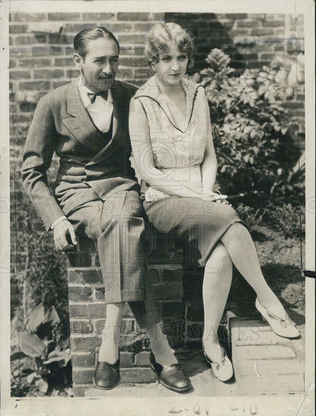 1928 Press Photo Kathryn Carver and Adolph Menjou plan to wed in Paris. - Historic Images
