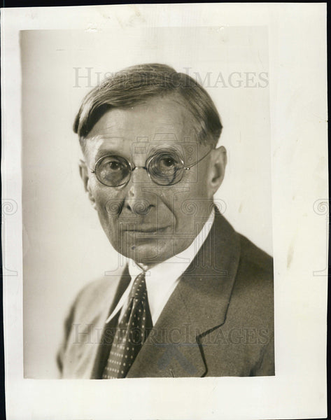 1932 Press Photo Vicotr J Yarros Editorial Writer - Historic Images