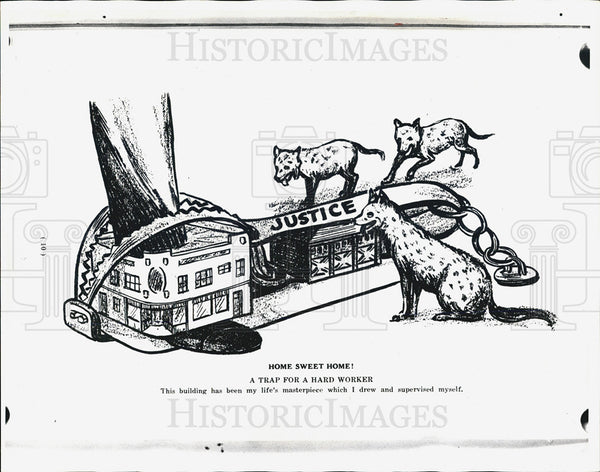 1938 Press Photo Art cartoon from Janek's book - Historic Images