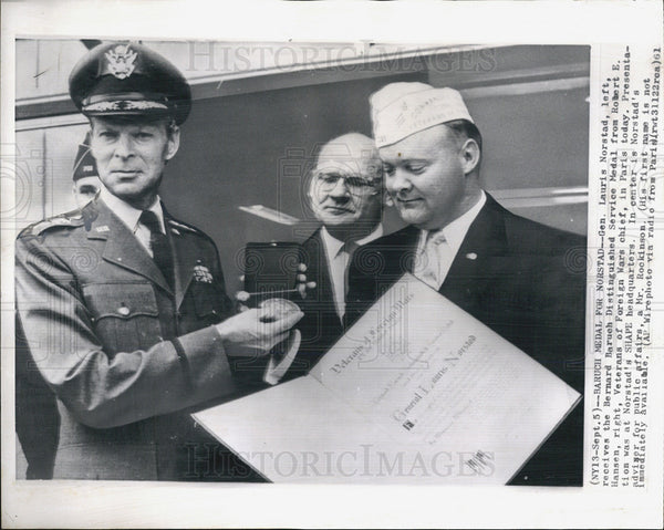 1961 Press Photo General Lauris Norstad Military Advisor - Historic Images