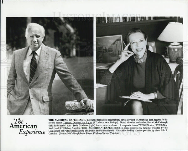 Press Photo The American Experience With Judy Chrichton And David McCullough-CPY - Historic Images