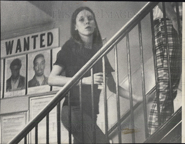 1973 Press Photo Donna Melkus, Charged in burglary. - Historic Images