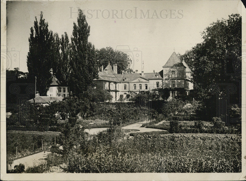 1922 Press Photo CAstle Prangins lake of Geneva - Historic Images