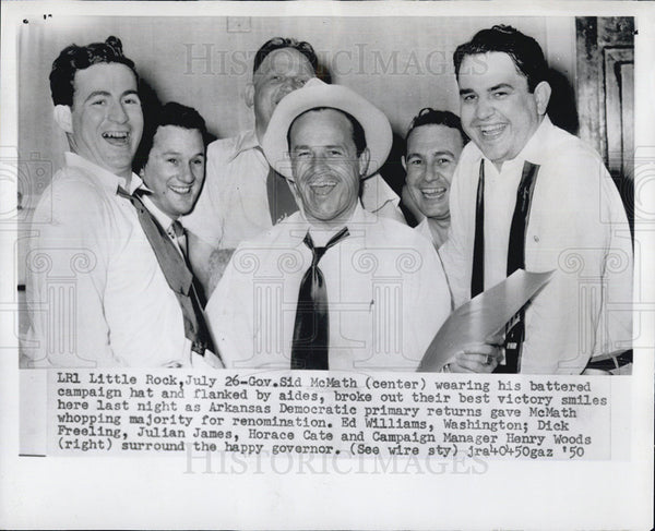 1950 Press Photo Sid Mcmath - Historic Images
