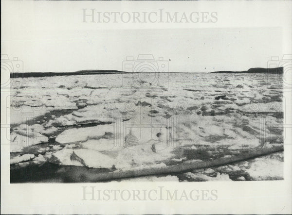 1928 Press Photo Ice off the Labrador coast - Historic Images