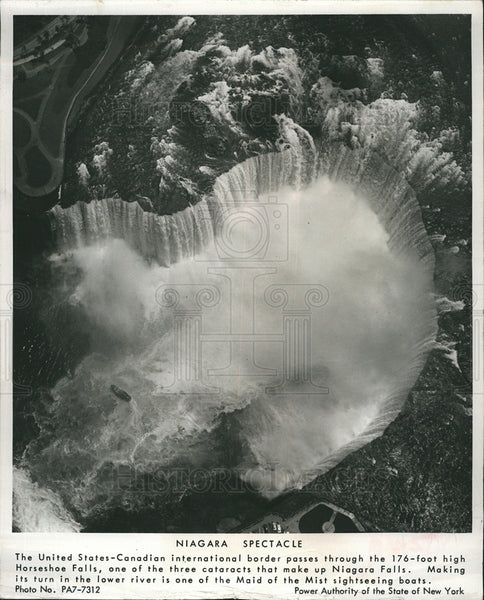 1964 Press Photo Niagara Falls/Horseshoe Falls - Historic Images
