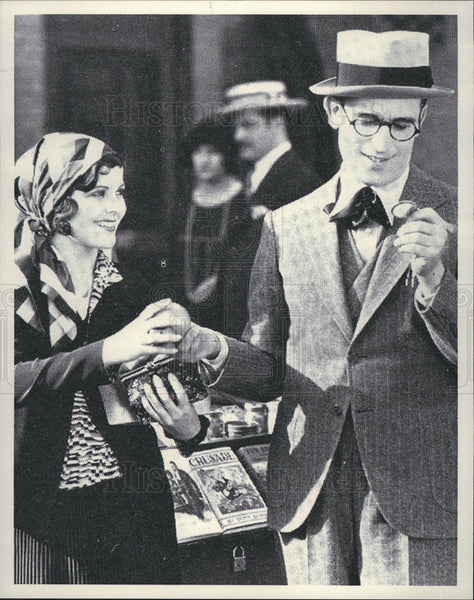 "1929 Press Photo Harold Lloyd, Barbara Kent ""Welcome Danger"" - Historic Images"