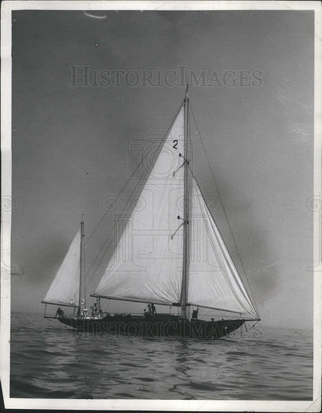 "1935 Press Photo ""Trident"" sailboat. - Historic Images"