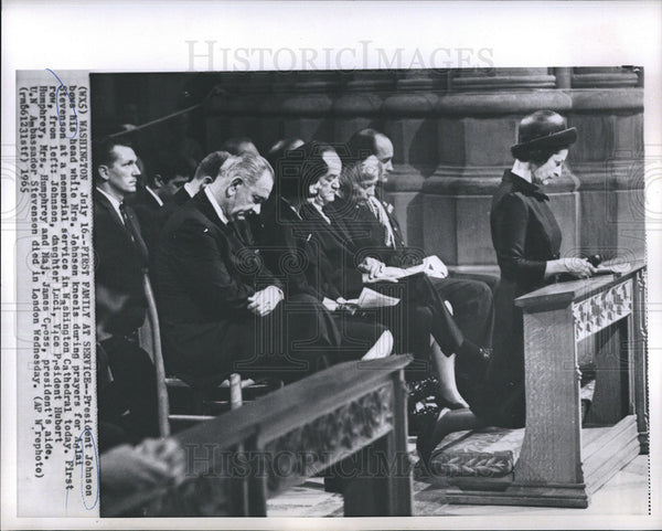 1965 Press Photo Pres Johnson - Historic Images